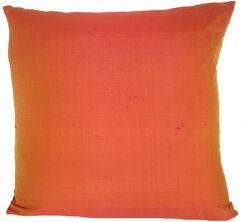 Knife Edge Silk Throw Pillow Color: Cranberry