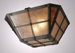 San Carlos Drop Semi Flush Mount Ceiling Light Finish: Black, Shade Color: Bungalow Green