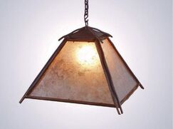 Bundle of Sticks 1-Light Lantern Pendant Finish: Architectural Bronze, Shade / Lens: Bungalow Green