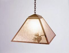 Mission 1-Light Dome Pendant Finish: Old Iron, Shade / Lens: Khaki