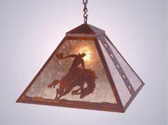 8 Seconds 1-Light Dome Pendant Finish: Old Iron, Shade / Lens: Slag Glass Pretended