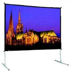 Black Fixed Frame Projection Screen Size: 115