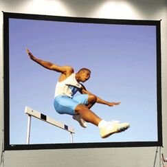 Fast Fold Deluxe Portable Projection Screen Viewing Area: 10 H x 13' W
