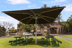 Nova 13' Square Market Umbrella Color: Brown