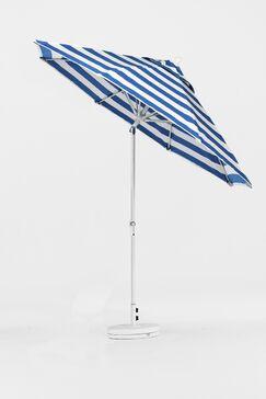 9' Market Umbrella Finish: Bronze, Color: Teal & White Stripe