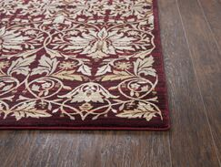 Adkisson Red Area Rug Rug Size: Rectangle 2'3