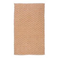 Ziggy Persimmon/Gold Area Rug Rug Size: 5' x 8'