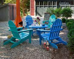 Classic 5 Piece Conversation Set Color: Pacific Blue / Aruba