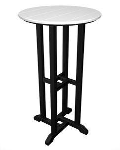 Contempo Bar Table Finish: Black & White