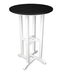 Contempo Bar Table Finish: White & Black