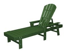South Beach Chaise Lounge Finish: Green