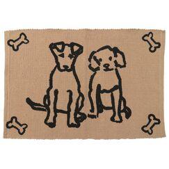 PB Paws & Co. Dog Friends Cotton Pet Mat Color: Linen, Size: 19
