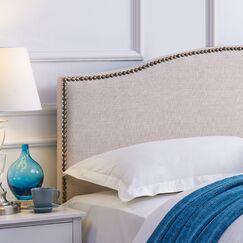 Unger Upholstered Panel Headboard Upholstery: Beige, Size: Full/Queen