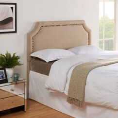 Arkadelphia Upholstered Panel Headboard Size: King / California King, Color: Khaki Linen