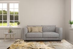 Itasca Vintage Gray/Brown Area Rug Rug Size: 3'11