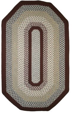 Green Mountain Famers Market Maroon Area Rug Rug Size: Elongated Octagon 9' x 12'