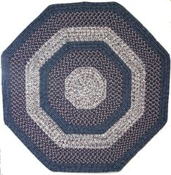 Town Crier Blue with Red Indoor/Outdoor Rug Rug Size: Octagon 8'