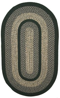 Town Crier Green Indoor/Outdoor Rug Rug Size: Oval 2'3