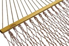 Hamby Large Rope Cotton Tree Hammock Color: Antique Brown