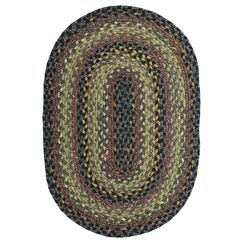 Cotton Braided Enigma Brown Area Rug Rug Size: Oval 8' x 10'