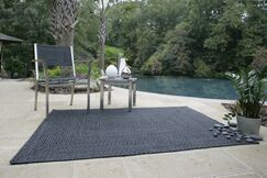 Ultra-Durable Black Solid Indoor/Outdoor Area Rug Rug Size: Rectangle 5' x 8'