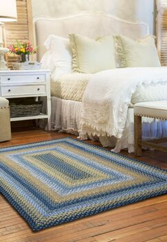 Cotton Braided Sunflowers Area Rug Rug Size: Oval 8' x 10'