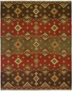 Jinzhou Hand-Woven Red/Brown Area Rug Rug Size: Rectangle 12' x 15'
