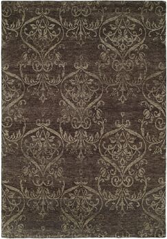 Bangkok Hand-Knotted Gray Area Rug Rug Size: Rectangle 12' x 15'