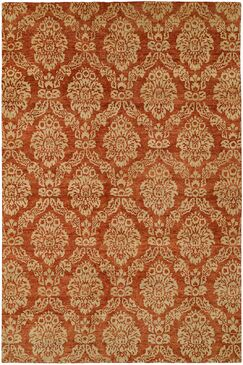 Surrey Hand-Knotted Beige/Red Area Rug Rug Size: Runner 2'6