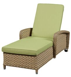 Chaise Lounge with Cushion Frame Finish: Natural, Fabric: Canvas Air Blue