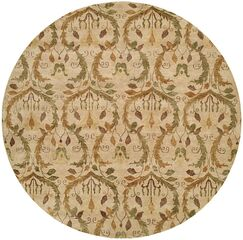 Hand-Knotted Beige Area Rug Rug Size: Rectangle 4' x 6'