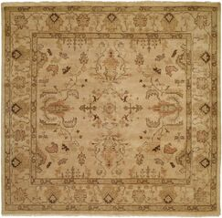 Puntarenas Hand-Knotted Beige Area Rug Rug Size: Square 6'