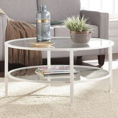 Casas Coffee Table Color: White
