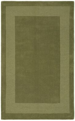 Transitions Moss Border Rug Rug Size: Rectangle 5' x 8'