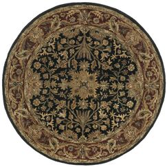 Traditions Regal Black Rug Rug Size: Round 6'