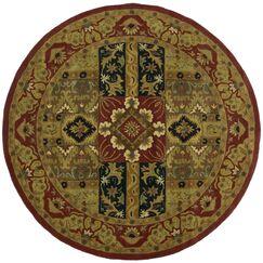Traditions Ashton Olive Rug Rug Size: Round 8'