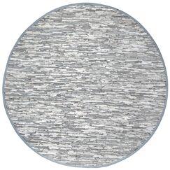 Matador Hand Woven Cotton Gray Area Rug Rug Size: Round 8'