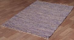 Matador Purple Leather/Hemp Rug Rug Size: 8' x 10'