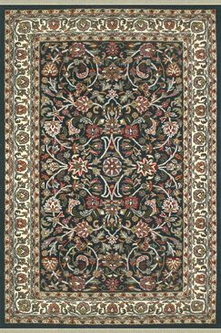 American Home Classic Kashan Navy/Ivory Area Rug Rug Size: Runner 2'6