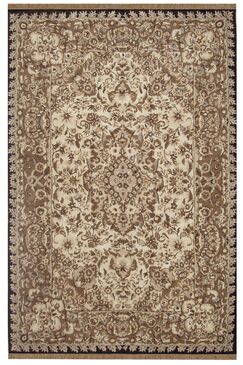 American Home Classic Tabriz Taupe/Black Area Rug Rug Size: Rectangle 3' x 5'