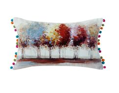 Austell Tree 100% Cotton Lumbar Pillow