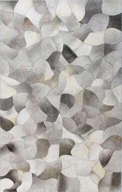 Santa Fe Tuscon Hand Flat Woven Cowhide Gray Area Rug Rug Size: Rectangle 8' x 10'