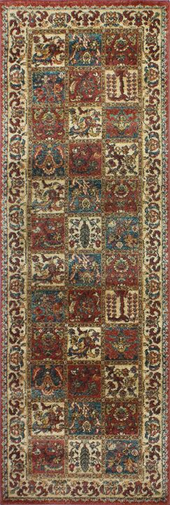 Tonia Brown/Ivory Area Rug Rug Size: Runner 2'7