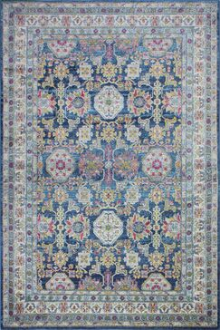 Goldie Navy Area Rug Rug Size: Rectangle 6' 4