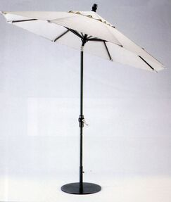 9' Market Umbrella Frame Finish: Earthtone, Fabric: Strickland