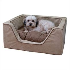 Luxury Square Nest Dog Bed Color: Peat/Coffee, Size: Large (27