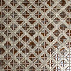 Castle Random Sized Porcelain Mosaic Tile in Henna
