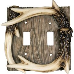 Deer Antler Double Switch Cover