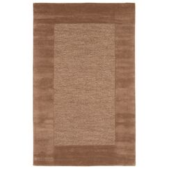Dewsbury Brown Border Area Rug Rug Size: Rectangle 5' x 8'