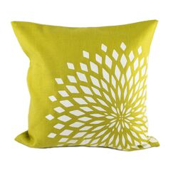 Zinnia Pillow Cover Color: Citrine